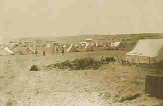 Digger tents in the gold rush in South Australia.